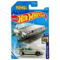 バック・トゥー・ザ・フューチャー ホットウィール 1/64スケール ダイキャストカー ベーシックシリーズ #9/10 デロリアン ホバーモード
