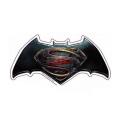 バットマンvsスーパーマン/ジャスティスの誕生 メタリック ダイカットステッカー エンブレム 【メール便可】