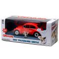 グレムリン グリーンライト 1/24スケール ダイキャストカー 1967' フォルクスワーゲン ビートル (ギズモ ミニフィギュア付き)