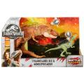 """ジュラシック・ワールド / 炎の王国 マテル """"バトルダメージ"""" アクションフィギュア 2パック ティラノサウルス・レックス VS モノロフォサウルス"""