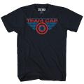 キャプテン・アメリカ / シビルウォー チーム・キャップ ネイビー Tシャツ メンズMサイズ