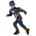 キャプテンアメリカ / シビルウォー USディズニーストア限定 ロールプレイ キャプテンアメリカ デラックス キッズコスチュームセット (5-6歳用)