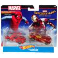 スパイダーマン:ホームカミング ホットウィール ダイキャスト キャラクターカー 2パック ホームメイドスーツ・スパイダーマン & アイアンマン