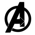 アベンジャーズ / エンドゲーム IG-2941 ラバーコースター アベンジャーズ エンブレム 【メール便可】