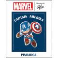 マーベルコミックス IBA-111 グリヒル アートシリーズ ピンバッジ キャプテン・アメリカ 【クリックポストOK】