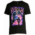 マーベルコミックス ヴェノム パープル・スモーク ブラック Tシャツ