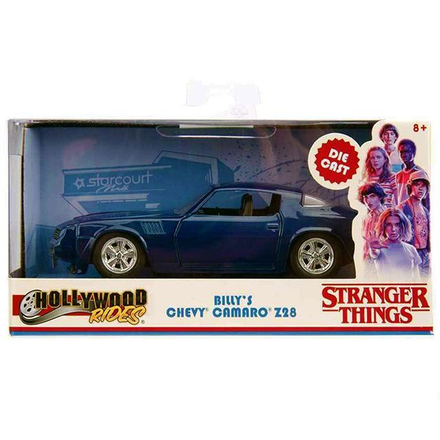 ネットフリックス ストレンジャー・シングス 未知の世界 ジェイダトイズ メタルズ ハリウッド・ライズ 1/32 スケール ダイキャストビークル ビリー's シボレー・カマロ Z28