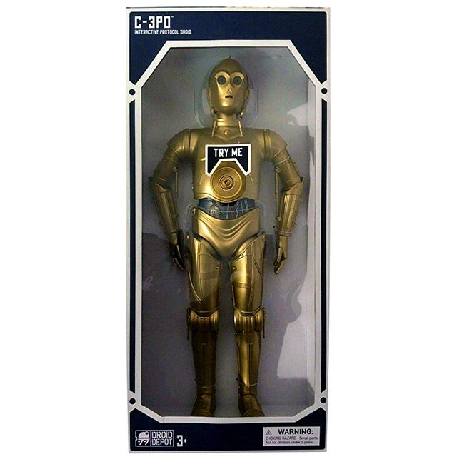 スター・ウォーズ USディズニーパーク ギャラクシーズ・エッジ限定 18インチ トーキングフィギュア インタラクティブ プロトコルドロイド C-3PO