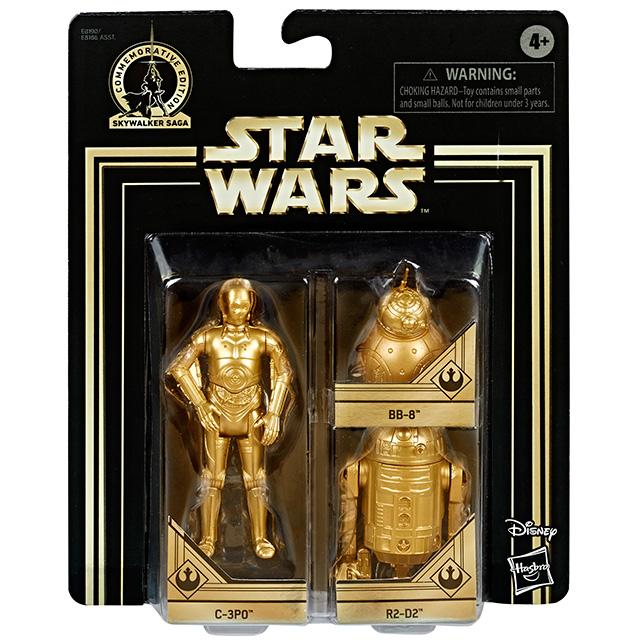 スター・ウォーズ 2019 スカイウォーカー サーガ コメモラティブエディション 3.75インチ ベーシックフィギュア ゴールドカラー 3パック C-3PO & R2-D2 & BB-8