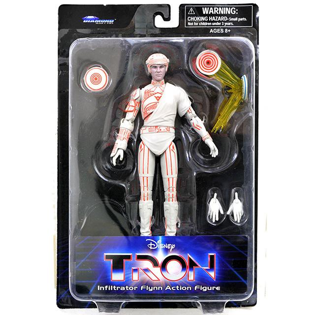ディズニー TRON トロン ダイアモンドセレクト 7インチ デラックス アクションフィギュア インフィルトレーター フリン