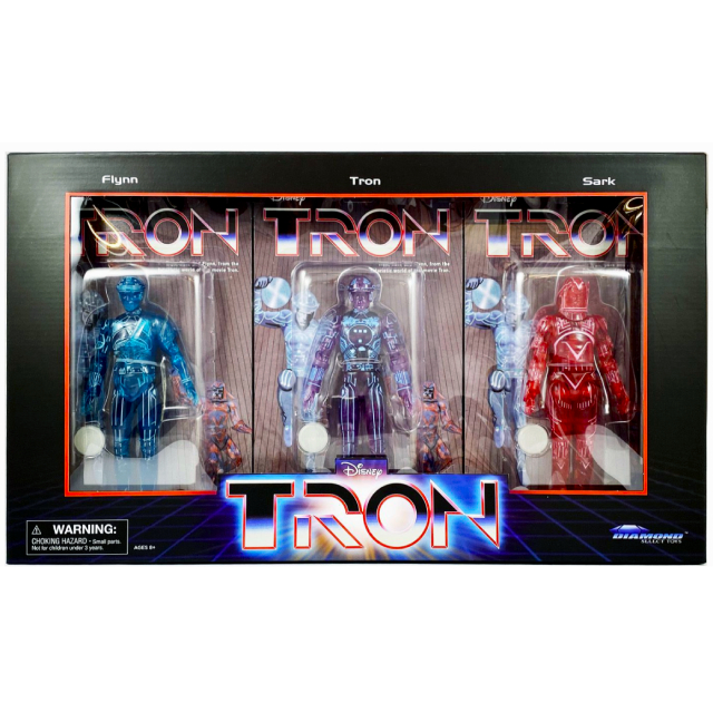 ディズニー TRON トロン ダイアモンドセレクト 2021 サンディエゴ・コミコン限定 7インチ デラックス アクションフィギュア ヴィンテージパッケージ ボックスセット (フリン & トロン & サーク)