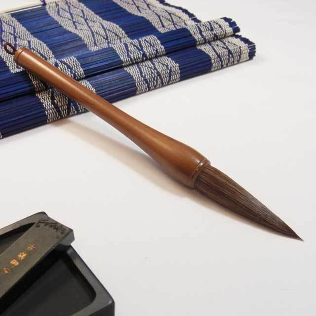剛毛木軸筆 7分