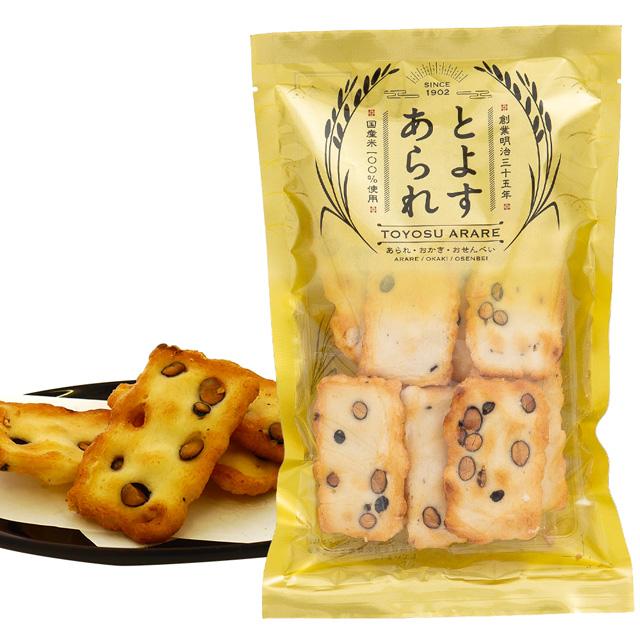 とよすあられ 国産米使用 豆おかき9枚×10袋入
