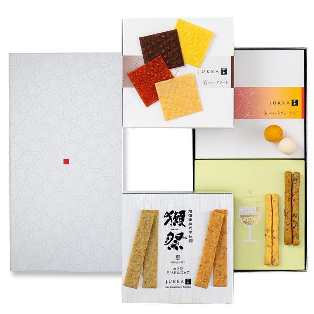 十火 Sセット−B 箔(トマト・ポテト・チーズ・カカオ)・恵(海苔・わさび)