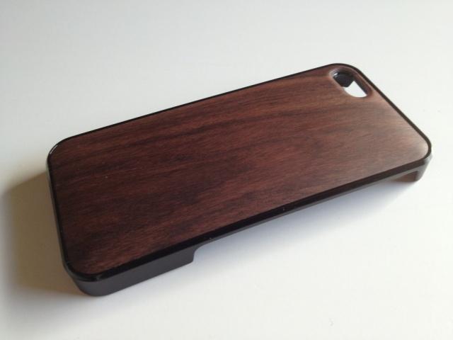 iPhone SE・iPhone 5/5s用 天然木ジャケット ローズ