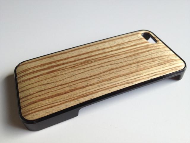 iPhone SE・iPhone 5/5s用 天然木ジャケット ゼブラ