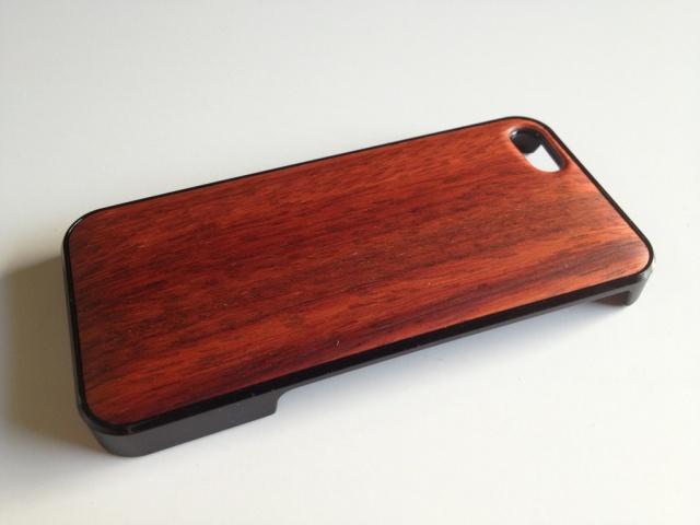 iPhone SE・iPhone 5/5s用 天然木ジャケット パドゥク