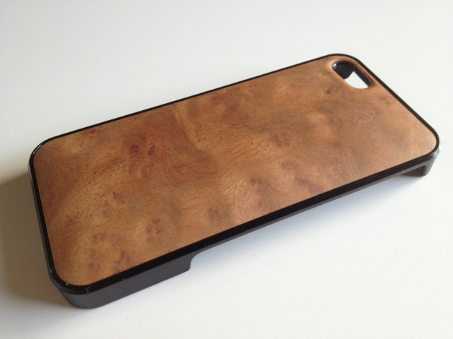 iPhone SE・iPhone 5/5s用 天然木ジャケット クスバール