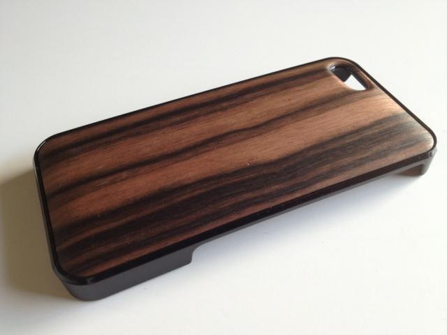 iPhone SE・iPhone 5/5s用 天然木ジャケット 黒檀