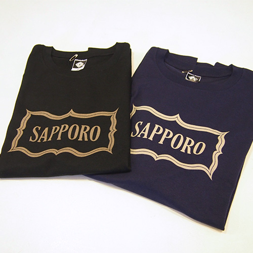 アイヌ文様Tシャツ - SAPPORO 七分袖Tシャツ(2色展開)_1
