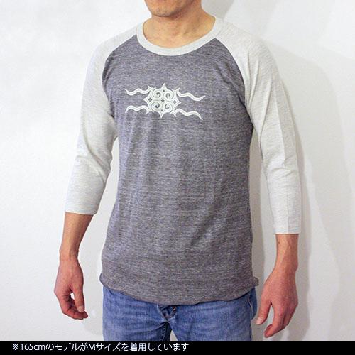 アイヌ文様Tシャツ - ラグタン七分袖Tシャツ(2色展開)_3