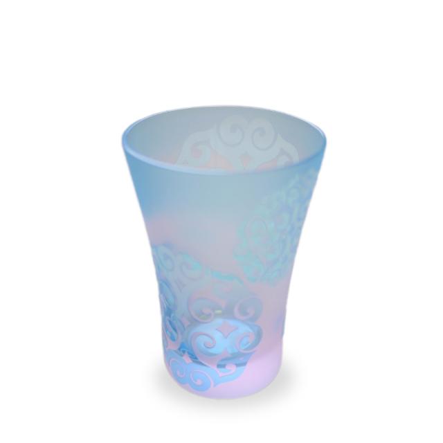 アイヌ文様グラス - heri-at pink blue_2