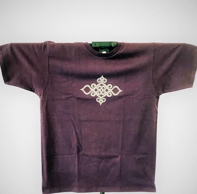 アイヌ文様Tシャツ - Tシャツ katsu_purple_おもて