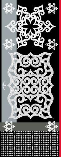 アイヌファッション - mina an ikor 大判ストール(ブラック)_2