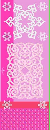 アイヌファッション - mina an ikor 大判ストール(ピンク)_3
