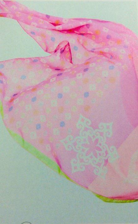 アイヌファッション - mina an ikor 大判ストール(ピンク)_4