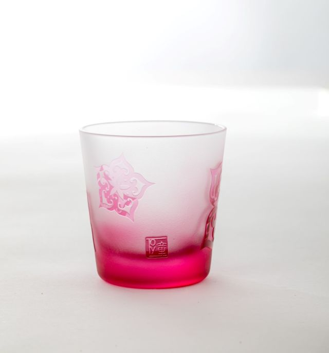 アイヌ文様グラス - SAKURA-ロックグラスA_2