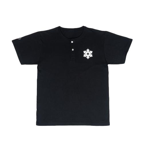 ToyToy屋アイヌ文様 【雪】 ヘンリーネックTシャツ (2色展開)
