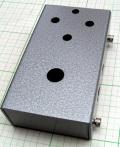 【アルミニウムエフェクターケース】TRANS;mission ドライバーレス穴あけ済みケース/定番サイズ シルバーハンマートーン