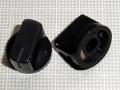 【ノブ】6.35mm(インチタイプ)スタンダード タイプ:リアルブラック