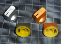 【ノブ】6.35mm(インチタイプ)スタンダード タイプ:ゴールド/シルバー 特注メッキ塗装