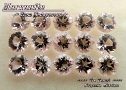 マダガスカル産モルガナイト☆ラウンドシェイプ4.0mm☆15ピース約3.54ct☆パッケージ商品
