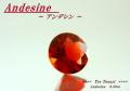 【アクセサリー】鮮やかな赤!!アンデシンルース0.39ct.ラウンドシェイプ5mm