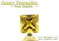 【アクセサリールース】深みのあるイエローの輝き!! ザンビア産カナリートルマリン0.60ct. スクエアシェイプ5mm
