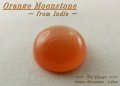 インド産オレンジムーンストーン☆ラウンドシェイプ7mm☆1.26ct.☆カボションカット