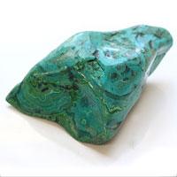 クリソコラ原石#5(送料無料 クリソコーラ 天然石 パワーストーン) (tg160112chr001gremin) メール便不可