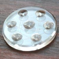 【10mm球用】エナジーヘキサグラム台座 アクリル製 (160325hexa) メール便不可