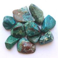 さざれ石 クリソコラ10個セット(タンブル) (tg160726chr001blutum) メール便可