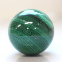 【30mm球】マラカイト 天然石 パワーストーン 球体 (2010100601) メール便不可