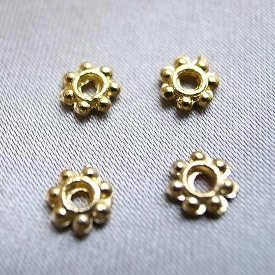 メタルパーツ(ゴールド)ボタン4個セット