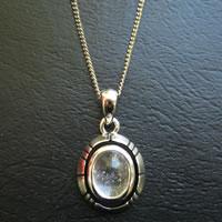 【ペンダント】ヒマラヤ水晶 デザインオーバル【小】 (tg2012xmaspen) メール便不可