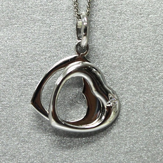 ハートシルバーペンダント(Silver Pendant) (tg140902cub005whipen) メール便不可