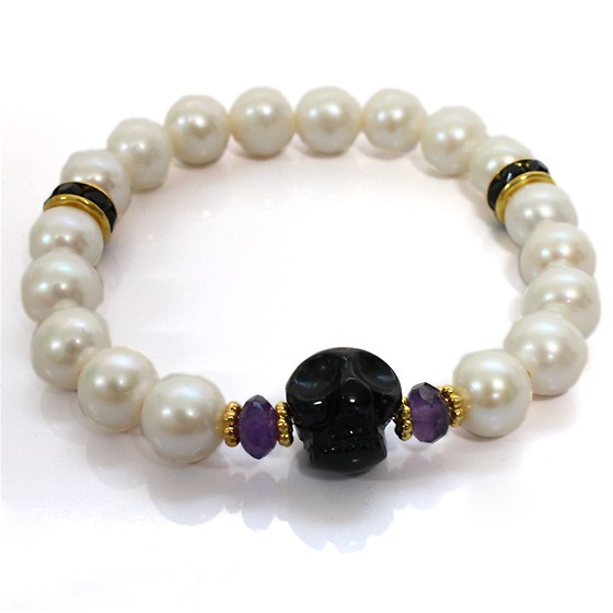 rebirth bracelet-Amethyst(スカル)内径14cm (tg141014ame001purbra) メール便不可