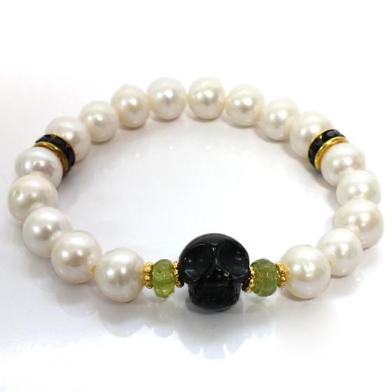 rebirth bracelet-Peridot(スカル)内径14cm (tg141014per001grebra) メール便不可