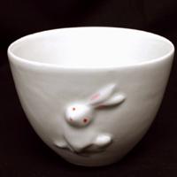 ゼロフィールドクリスタル陶器 湯呑(兎) (tg141028000009whipote) メール便不可