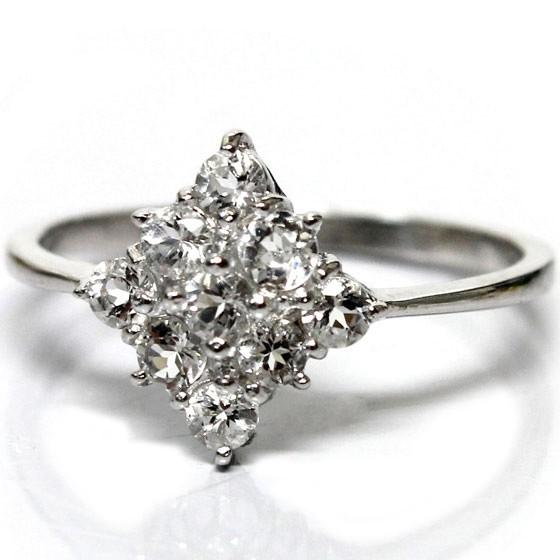 ダイヤ型ヒマラヤ水晶リング (tg150120him001whirin) メール便不可